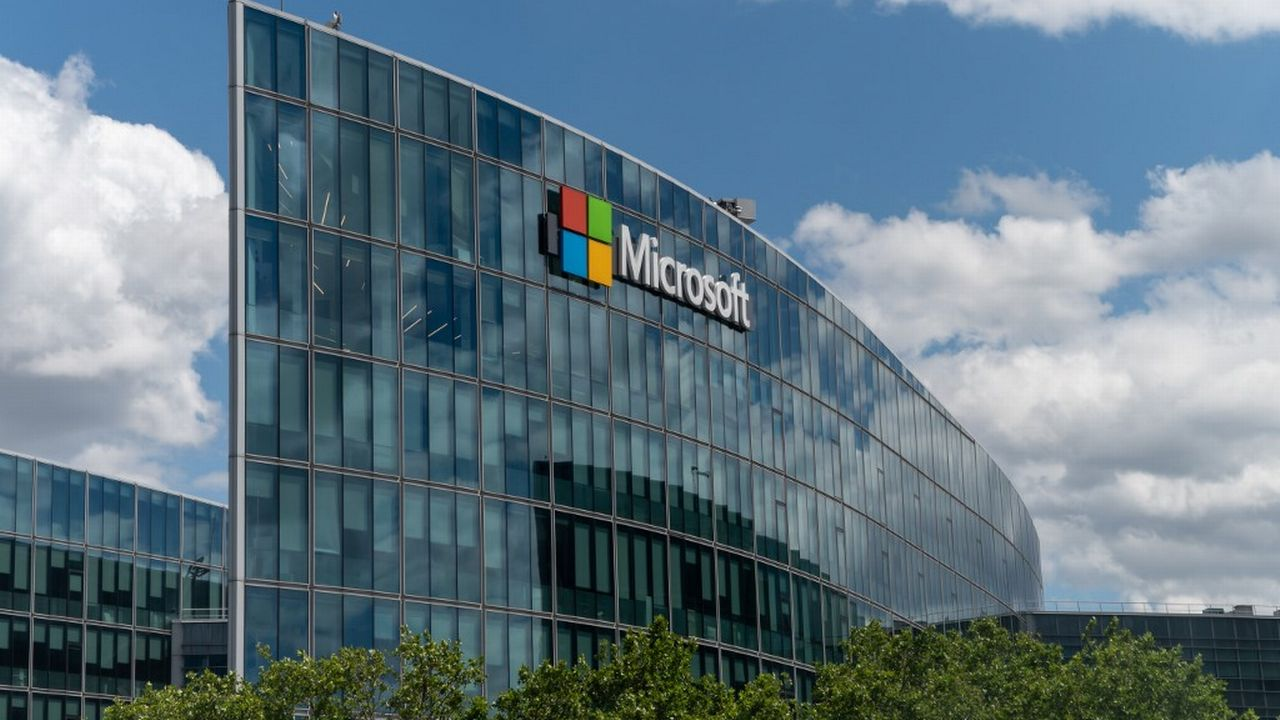Le siège de Microsoft France, à Issy-les-Moulineaux. [Hans Lucas / Riccardo Milani - AFP]