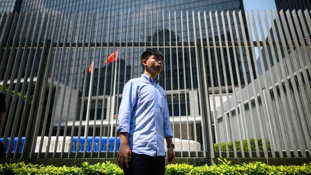 Le militant pro-démocratie Joshua Wong, photographié ici le 28 septembre 2019 à Hong Kong. [Philip Fong - AFP]