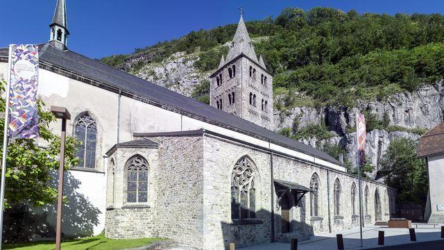 La Basilique de l'Abbaye de St-Maurice (VS). [Olivier Maire - Keystone]