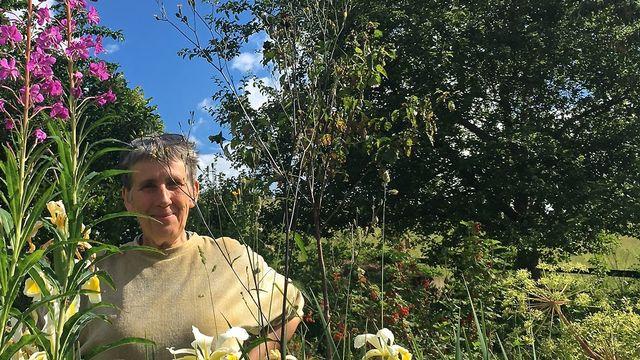 Le jardin-jungle de Christine Simac, à Saint-Martin (FR). [Lucile Solari - RTS]