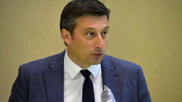 Jacques Gerber, en charge du Département jurassien de l'économie et de la santé. [Gaël Klein - RTS]