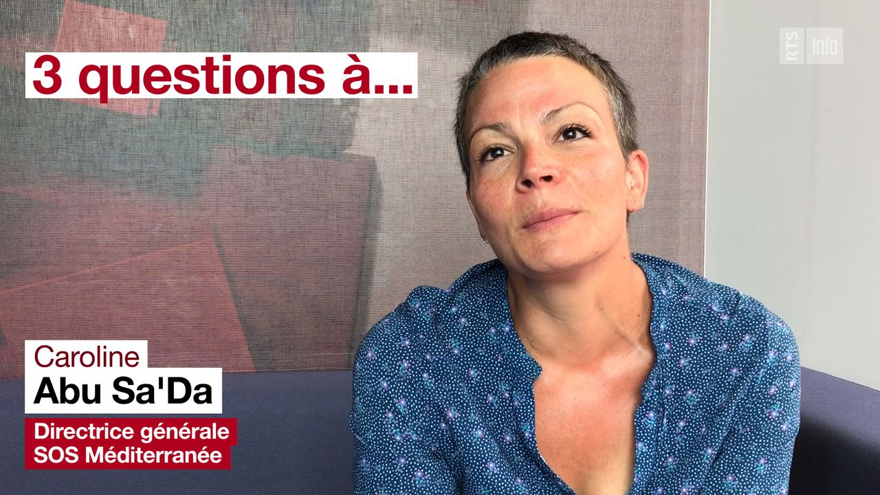 Trois questions à Caroline Abu Sa'Da, directrice de SOS Méditerranée. [DR - RTS]