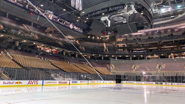 La NHL doit reprendre au plus tôt à la fin du mois de juillet. [Joshua Clipperton - Keystone]