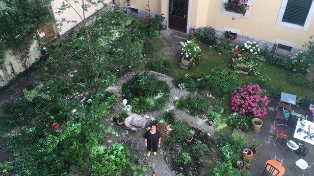 Le jardin de la Muse de Dominique Page. [Lucile Solari - RTS]