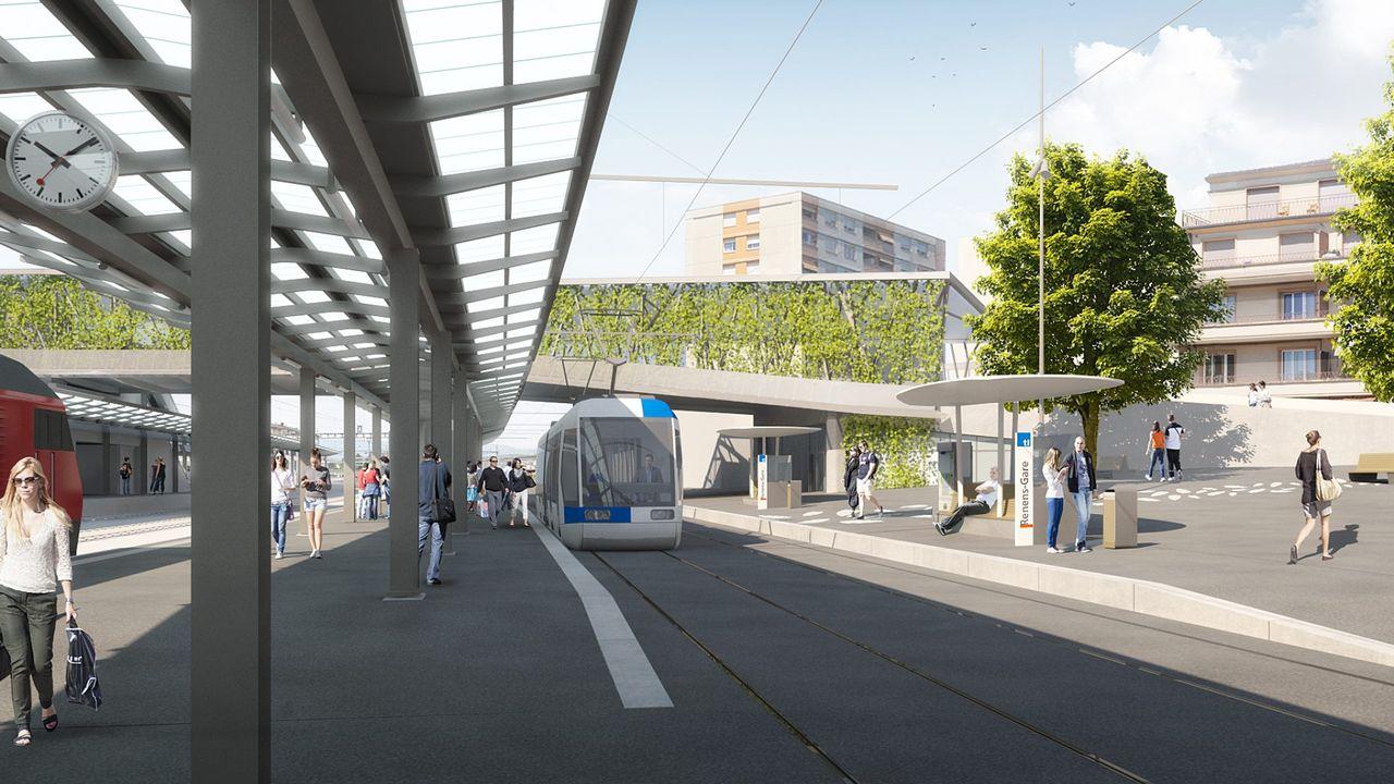Les travaux du tram Lausanne-Renens débuteront cet automne. [Etat de Vaud]