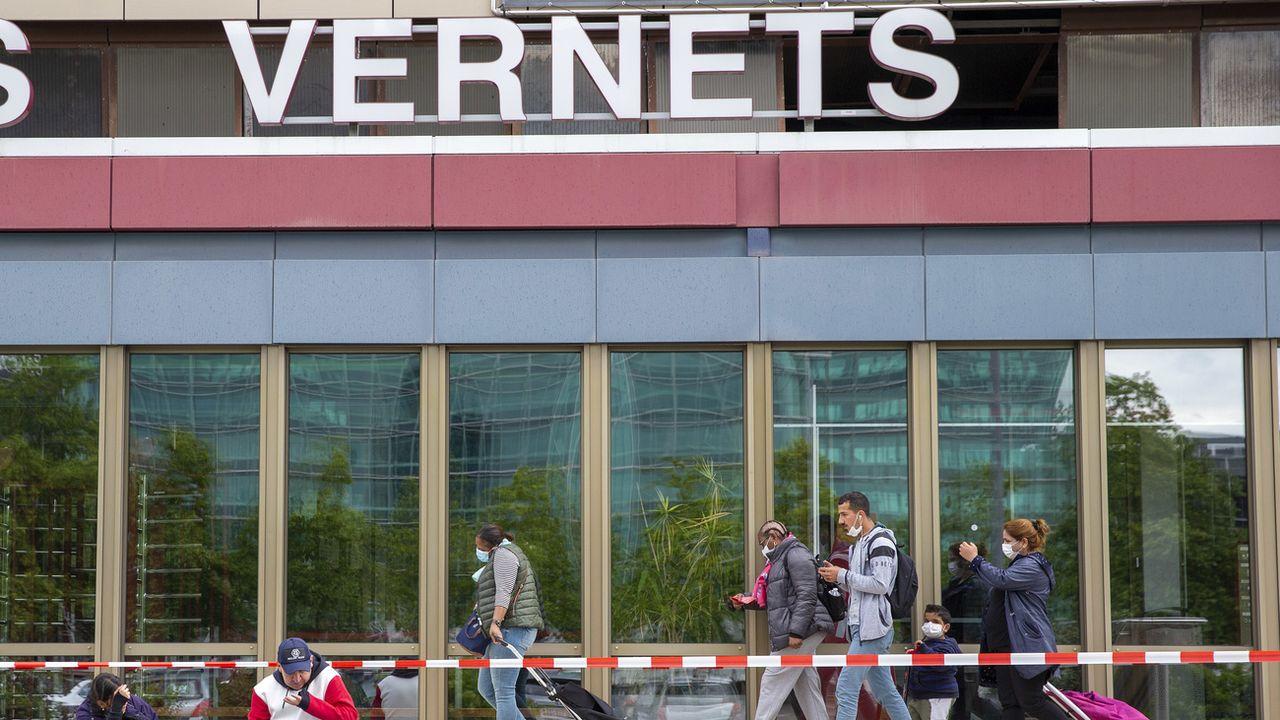 130 arbres à abattre, ou le prix à payer pour le futur quartier des Vernets à Genève [Salvatore Di Nolfi - Keystone]