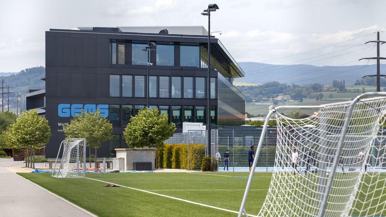 L'établissement provisoire d'Etoy prendra place dans les anciens locaux de l'école privée GEMS. [Salvatore Di Nolfi - Keystone]