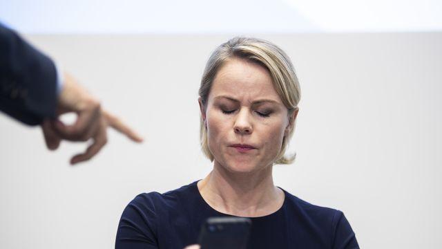 La ministre zurichoise de la Santé Natalie Rickli est critiquée par le Parti socialiste [Ennio Leanza - Keystone]