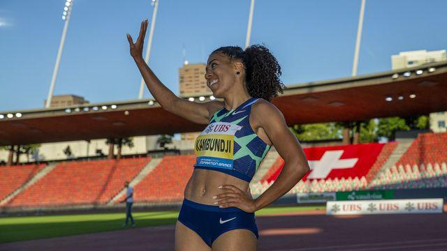 Mujinga Kambundj s'est contentée de la 3e place sur 150 mètres. [Patrick B. Kraemer - Keystone]