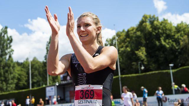 Ajla Del Ponte a établi la meilleure performance européenne de la saison. [Jean-Christophe Bott - Keystone]