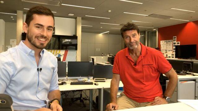 Massimo Lorenzi, ici avec Brian Wakker, est revenu sur les droits TV des Coupes d'Europe. [RTS]