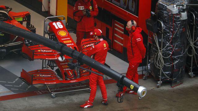 Leclerc s'est excusé auprès de Vettel pour avoir provoqué leur élimination. [Leonhard Foeger - Keystone]