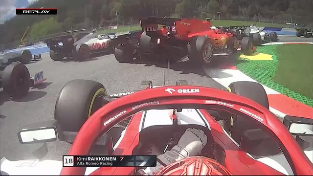 GP d'Autriche (#2): Lecrerc (Ferrari) percute son coéquipier dans ce début de course ! [RTS]