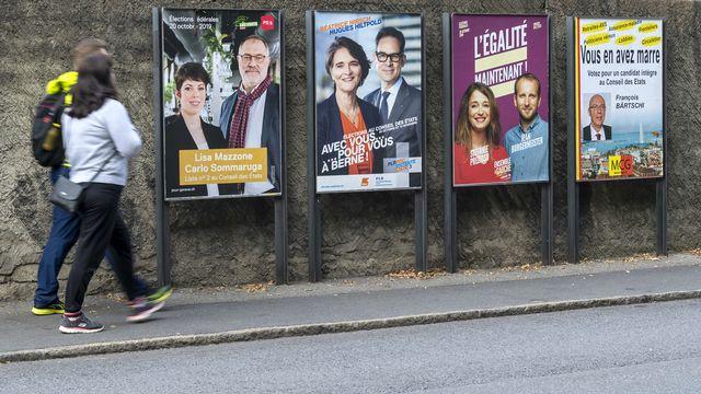 Le PS et l'UDC ont surtout perdu des plumes du côté des électeurs de moins de 35 ans. [Martial Trezzini - Keystone]