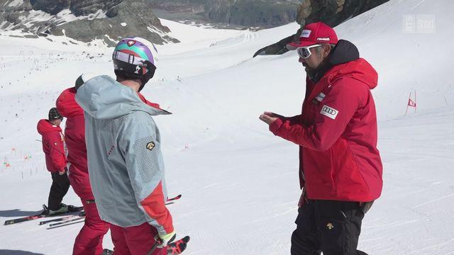 Ski: les premiers virages 2020-2021 de Daniel Yule [RTS]