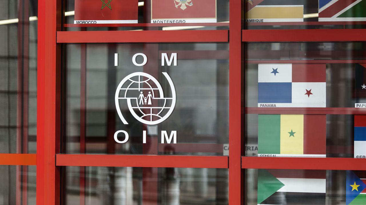 Le siège de l'Organisation internationale pour les migrations à Genève. [Christian Beutler - Keystone]