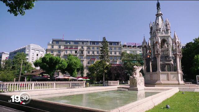 L'hôtellerie de luxe est durement touchée par le covid-19. [RTS]