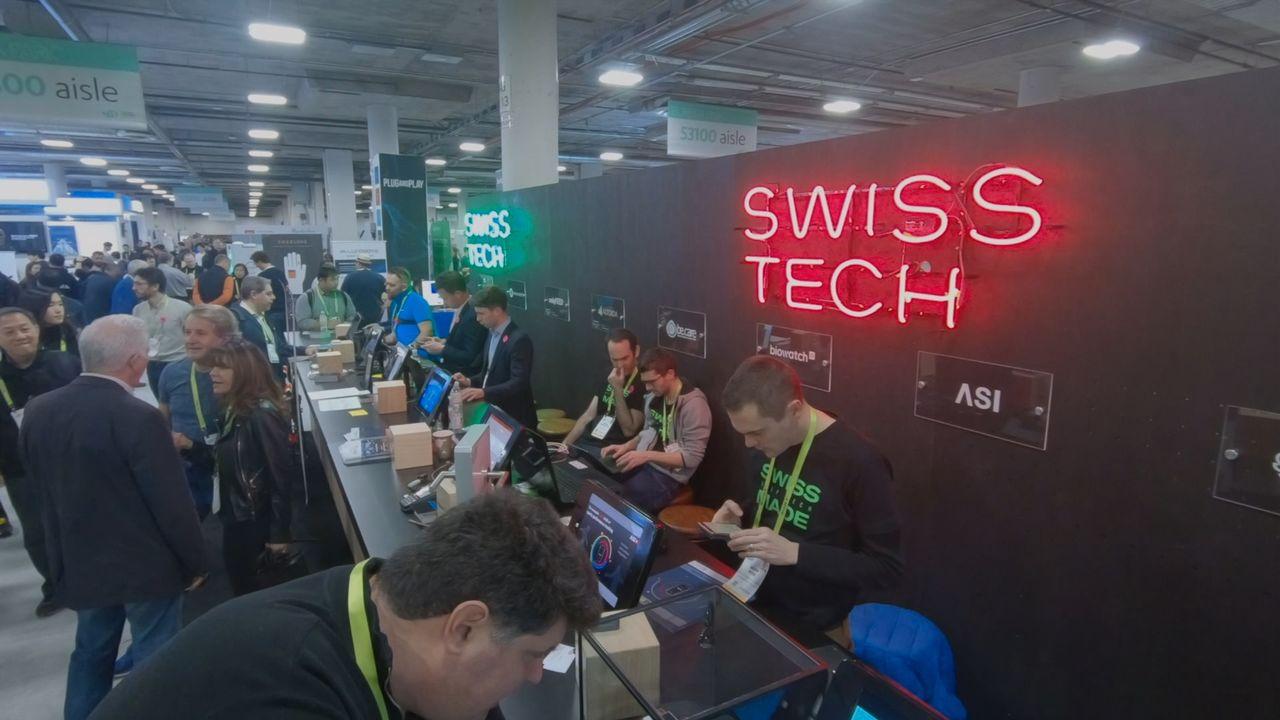 Trente start-up suisses étaient présentes au Consumer Electronics Show à Las Vegas en janvier dernier. [RTS]