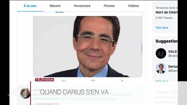 Télévision: les réactions après l'annonce du départ de Darius Rochebin pour la France [RTS]