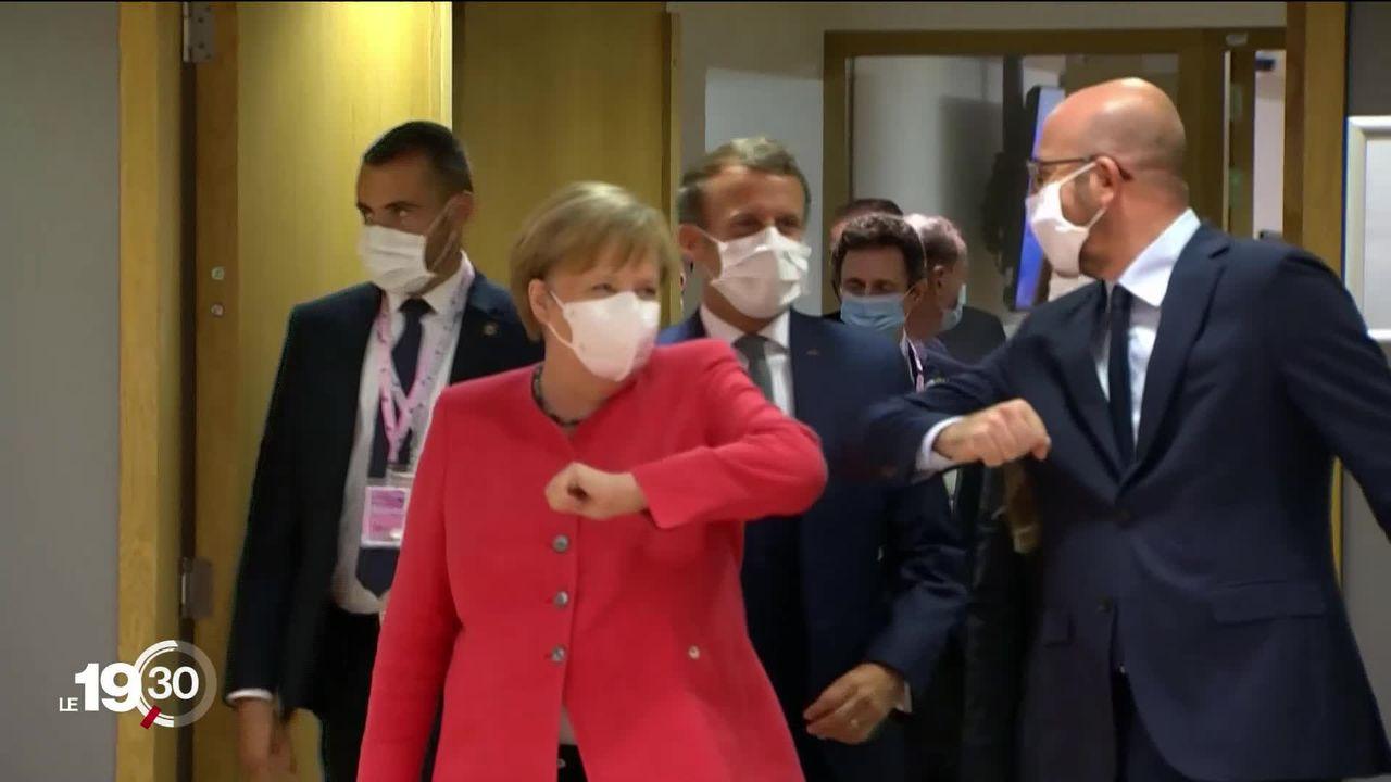 Les 27 dirigeants de l'UE sont à Bruxelles pour trouver un accord sur un plan de relance de l'économie de 750 milliards d'euros. [RTS]