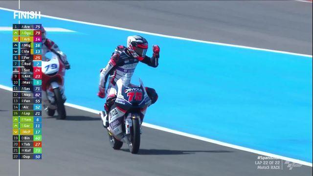 GP d'Espagne (#1), moto 3: Arenas (ESP) s'impose, Ogura (ESP) 2e et Arbolino (ITA) 3e [RTS]