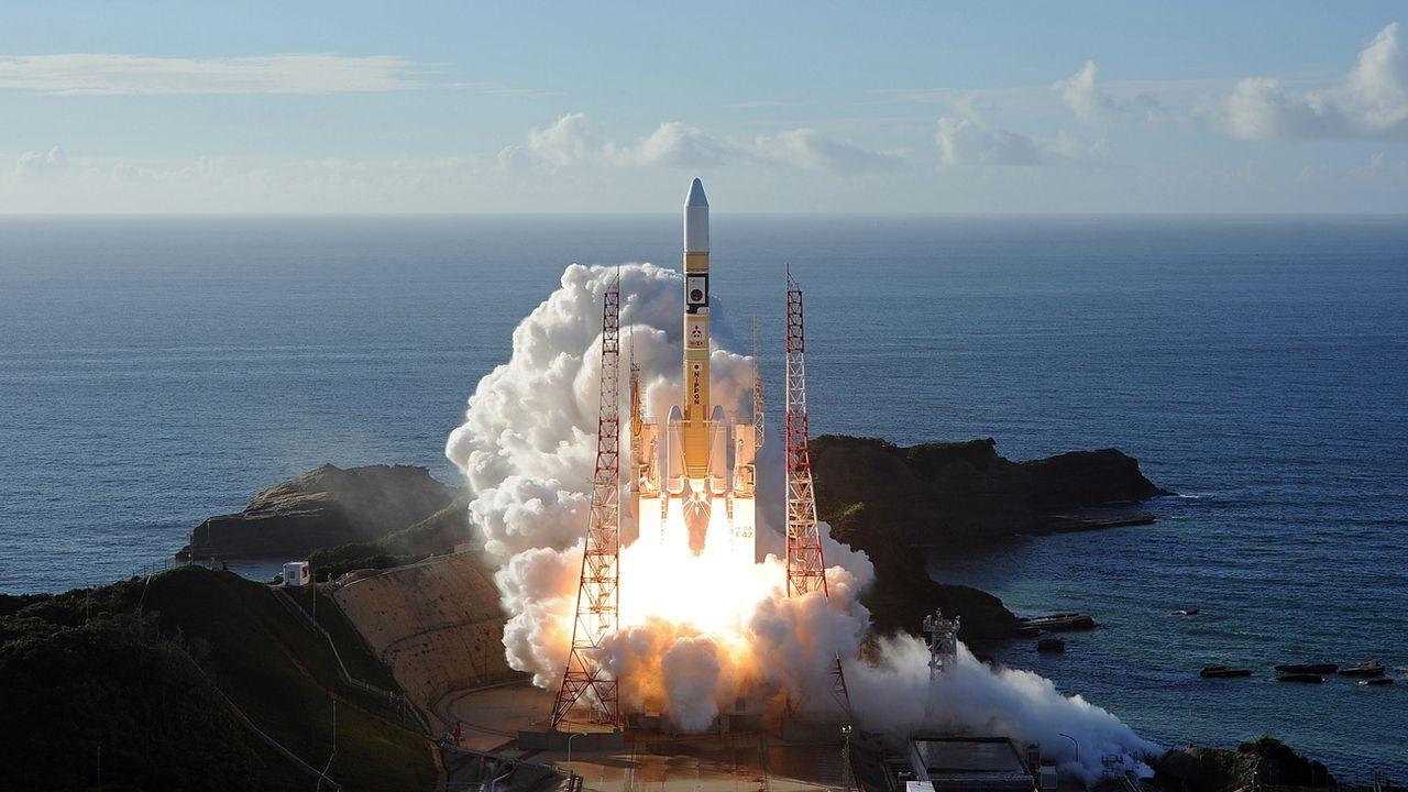 "La sonde émiratie ""Al-Amal"" a été lancée avec succès vers Mars. [MITSUBISHI HEAVY INDUSTRIES - Keystone/EPA]"