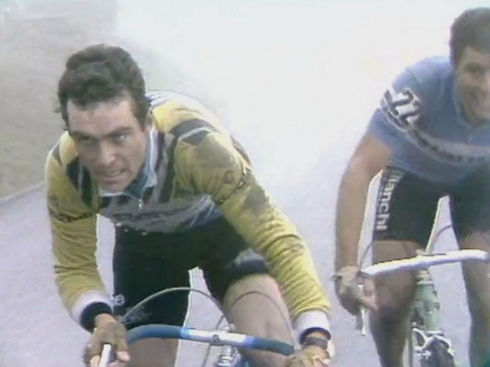 Bernard Hinault, champion cycliste en acier trempé. [RTS]