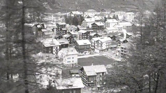 En 1963, la station valaisanne de Zermatt est touchée par une épidémie de fièvre typhoïde. [RTS]
