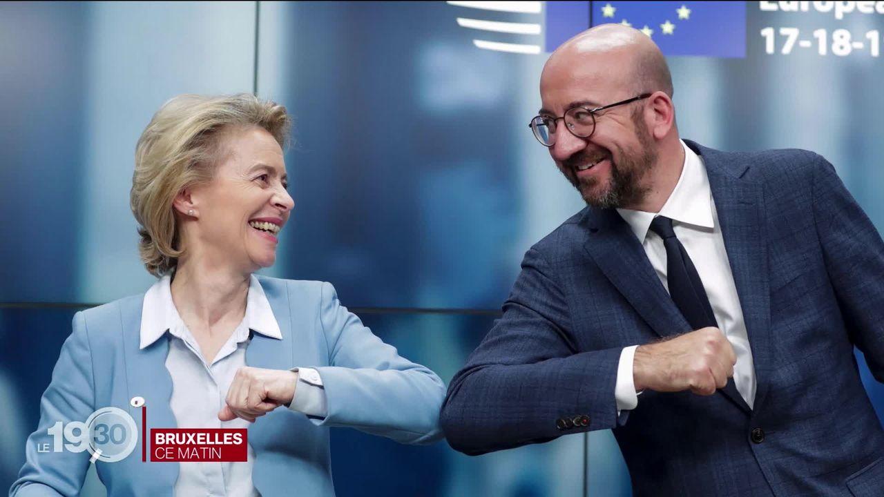 Après quatre jours d'intenses négociations, l'Union européenne s'accorde sur un plan de relance de 750 milliards d'euros. [RTS]