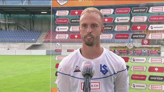 33e journée: Vaduz - Lausanne-Sport (2-1): Nicolas Gétaz reste serein pour la fin de la saison [RTS]