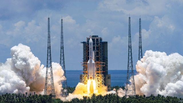 La Chine lance une sonde vers la planète rouge. [Cai Yang - Xinhua via AP]
