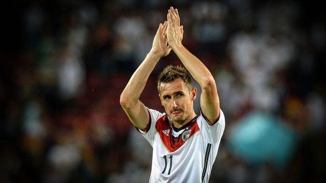 Klose est devenu au Brésil le meilleur buteur de l'histoire de la Coupe du monde. [Thomas Eisenhuth / EPA - Keystone]