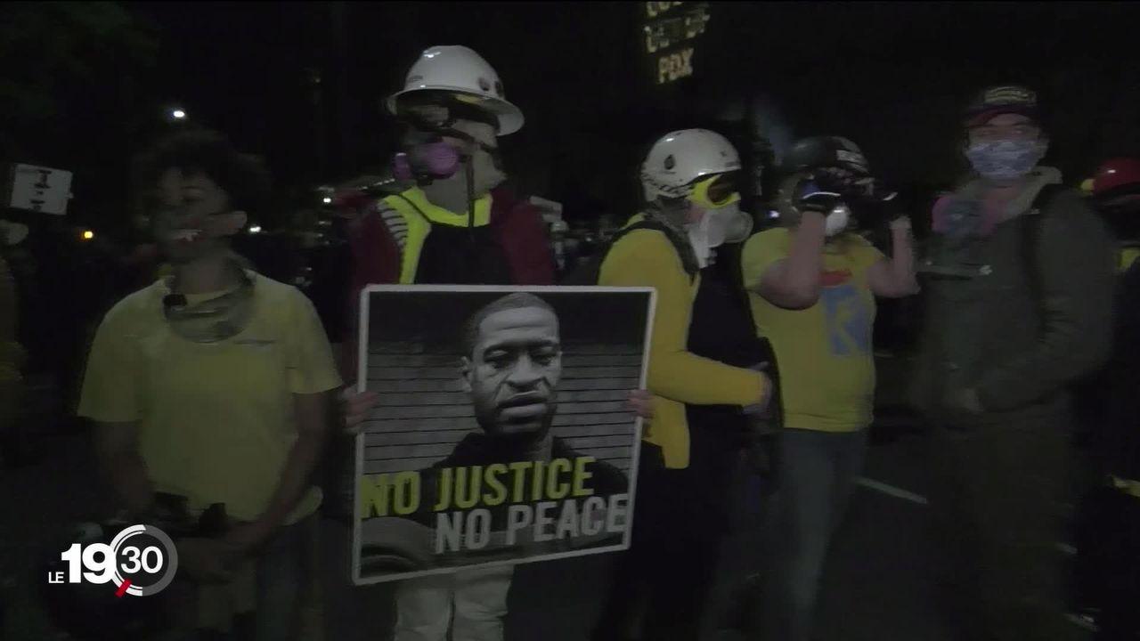 Etats-Unis: les manifestations contre les discriminations raciales continuent avec souvent des affrontements contre la police. [RTS]