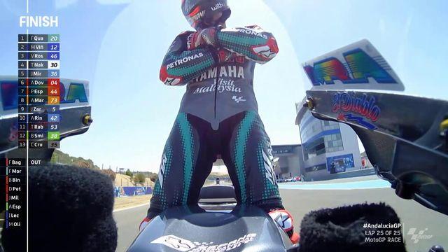 GP d'Andalousie (#2), MotoGP: deuxième victoire pour Quartararo (FRA) qui termine devant Viñales (ESP) et Rossi (ITA)