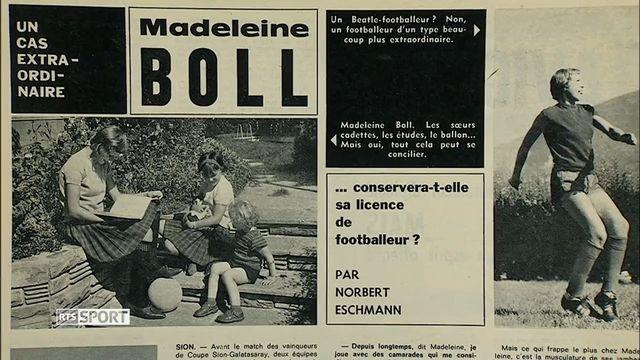 Madeleine Boll, pionnière du football féminin suisse.