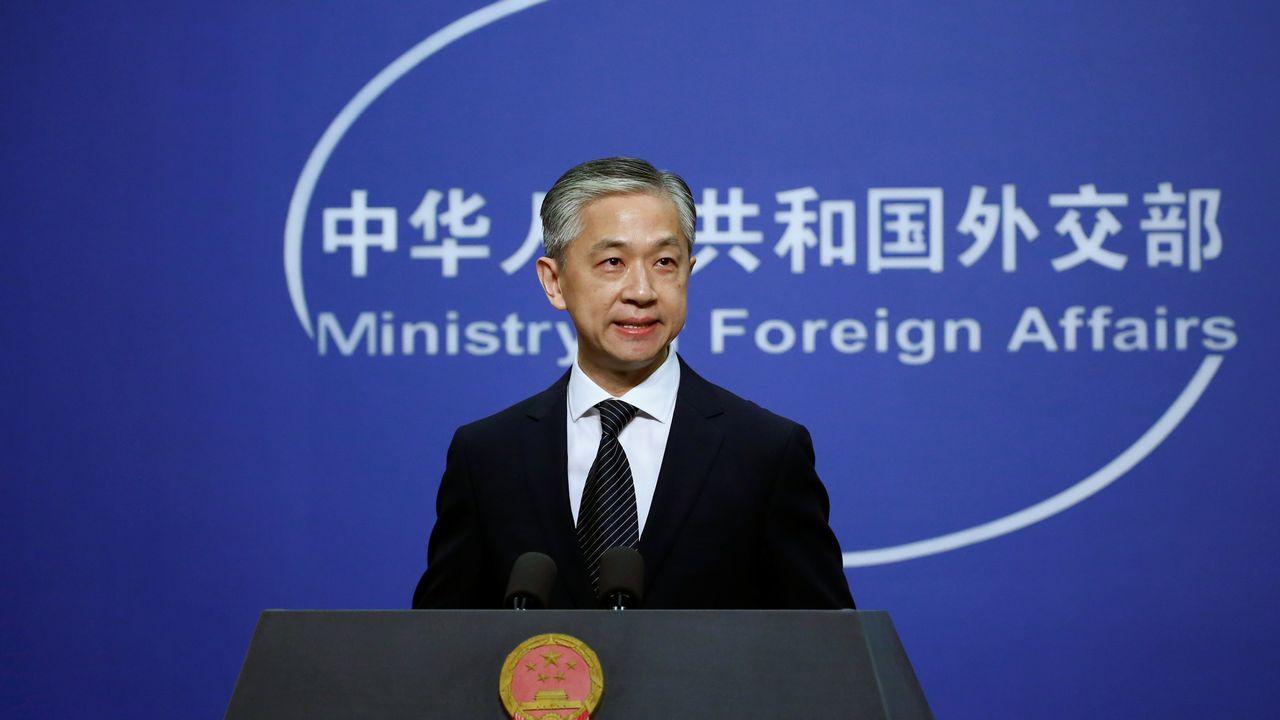 """Wang min, porte-parole du ministère des Affaires étrangères chinois a dénoncé une """"escalade sans précédent"""" après la fermeture imposé du consulat chinois de Houston. [Tingshu Wang - Reuters]"""