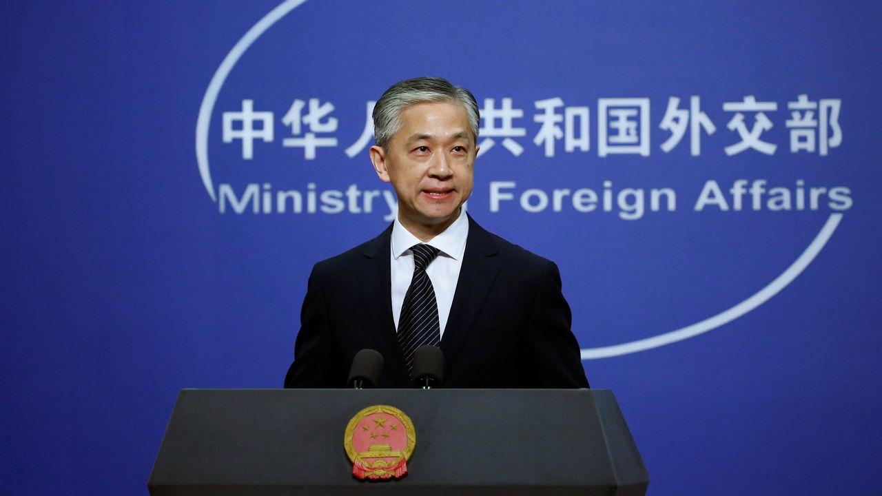 Wang Wenbin, porte-parole du ministère des Affaires étrangères chinois. [Tingshu Wang - Reuters]