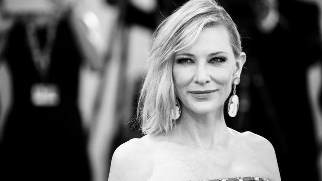 """L'actrice Cate Blanchett, à la Mostra de Venise l'an dernier pour présenter """"Joker"""".  [Matteo Chinellato - NurPhoto via AFP]"""