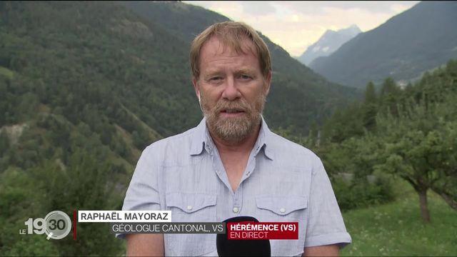 Le Valais teste un nouveau système d'alerte pour prévenir l'arrivée des crues. Entretien avec Raphaël Mayoraz, géologue cantonal [RTS]