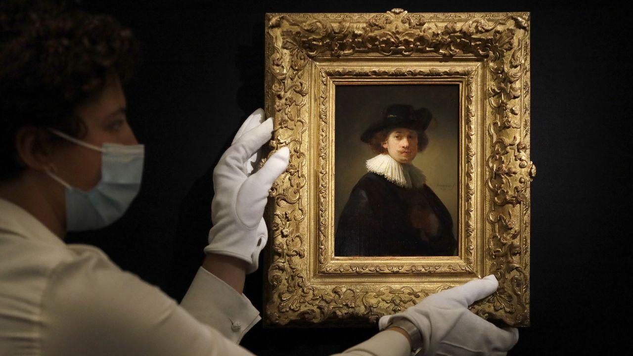 Un autoportrait de Rembrandt a été vendu mardi pour 17,2 millions de francs [Kirsty Wigglesworth - Keystone/AP]