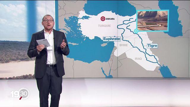 Les explications d'Antoine Silacci sur les tensions entre pays autour de la gestion des fleuves. [RTS]