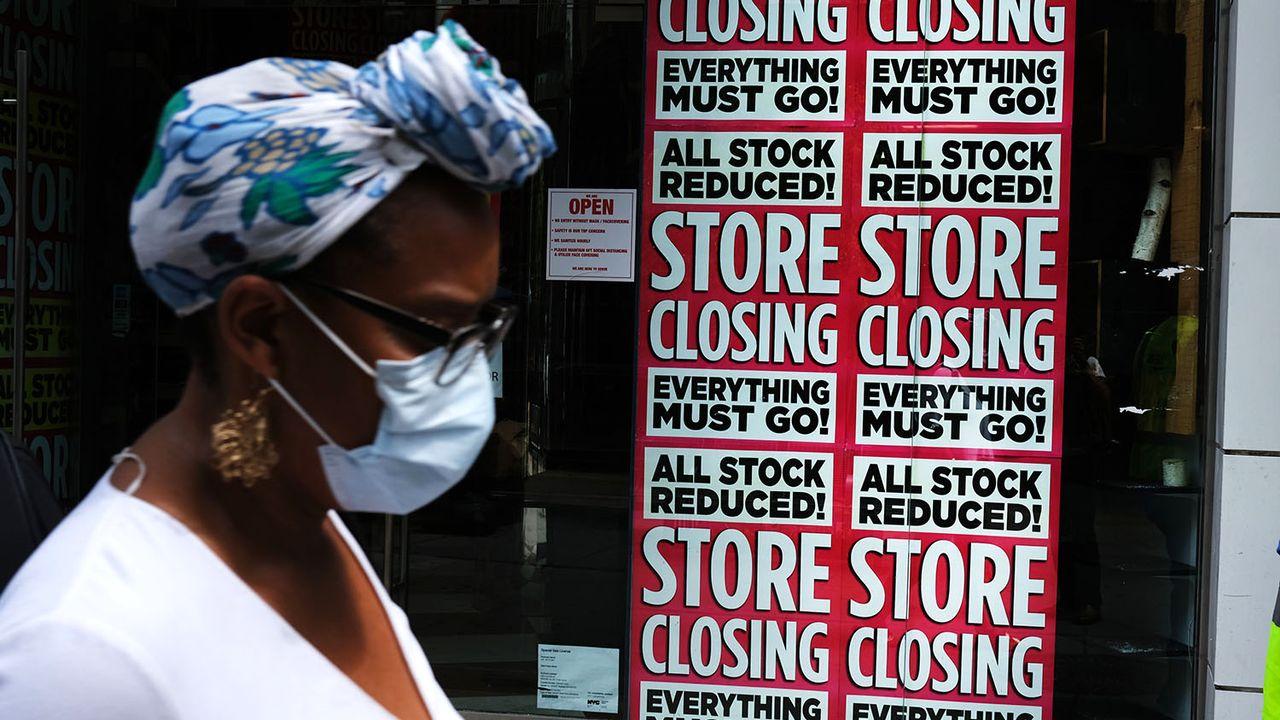 La contraction du PIB américain est largement due à la baisse des dépenses de consommation. [Spencer Platta - Getty Images/AFP]