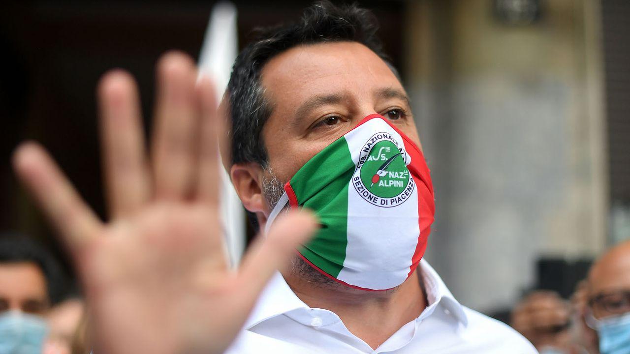 Matteo Salvini lors d'une manifestation à Milan, le 13.07.2020. [Daniele Mascolo - Reuters]