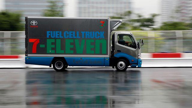 Un camion à hydrogène du fabricant japonais Toyota. [Toru Hanai - Reuters]