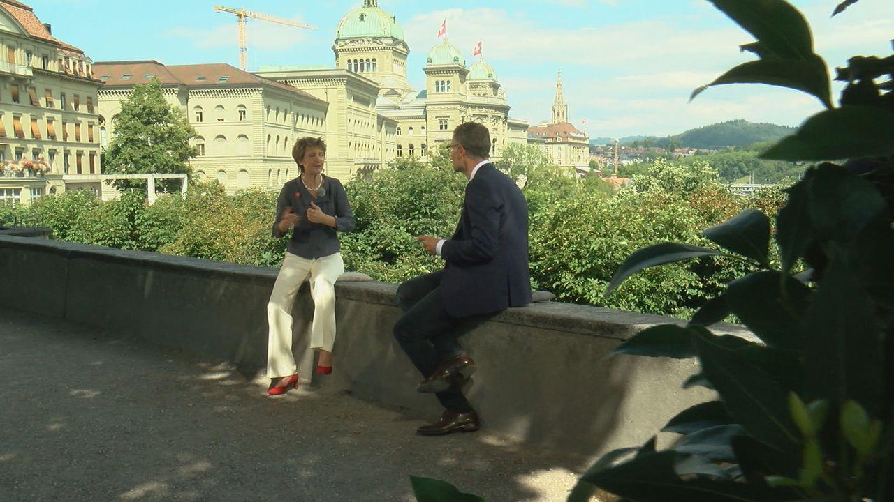 L'interview intégrale de Simonetta Sommaruga à l'occasion du 1er Août. [RTS]