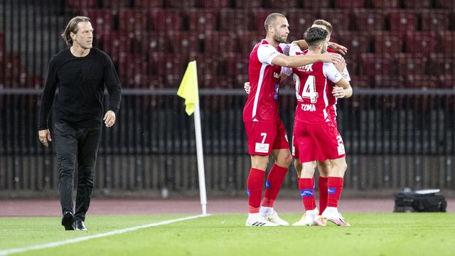 Le FC Sion devra-t-il passer par le barrage pour sauver sa place dans l'élite? [Alexandra Wey - Keystone]