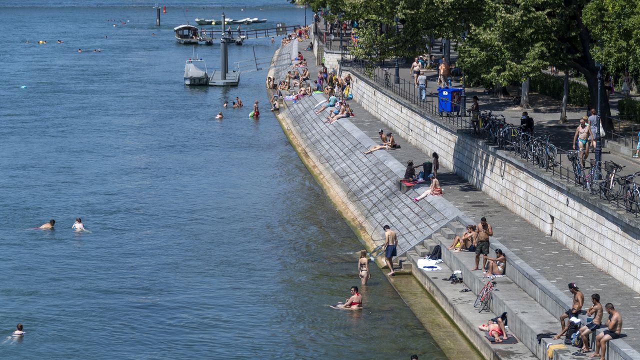 Le record de chaleur en 2020 a été battu à Bâle vendredi. [Georgios Kefalas - Keystone]