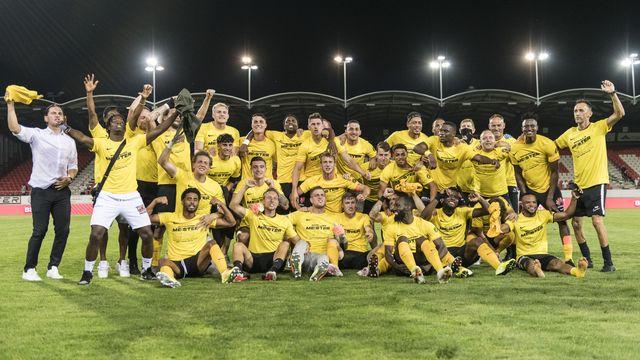 Young Boys a remporté un 3e titre de champion de Suisse d'affilée, le 14e au total. [Alessandro della Valle - Keystone]