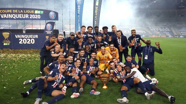 Le PSG décroche la 9e Coupe de la Ligue de son histoire. [Christophe Petit Tesson - Keystone]