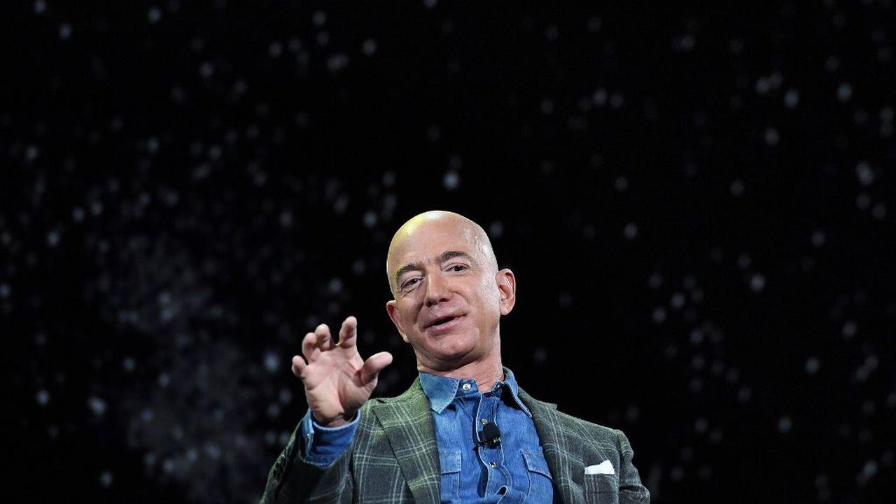 """Jeff Bezos, le fondateur et CEO d'Amazon, va investir 10 milliards de dollars dans son """"Project Kuiper"""" (image datant de juin 2019). [AFP]"""